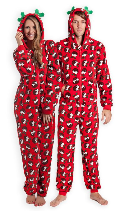 Forever Lazy Footed Happy Holidaze Onesie available in sizes XXS-XXL. Ultra soft and comfy % polyester fleece.