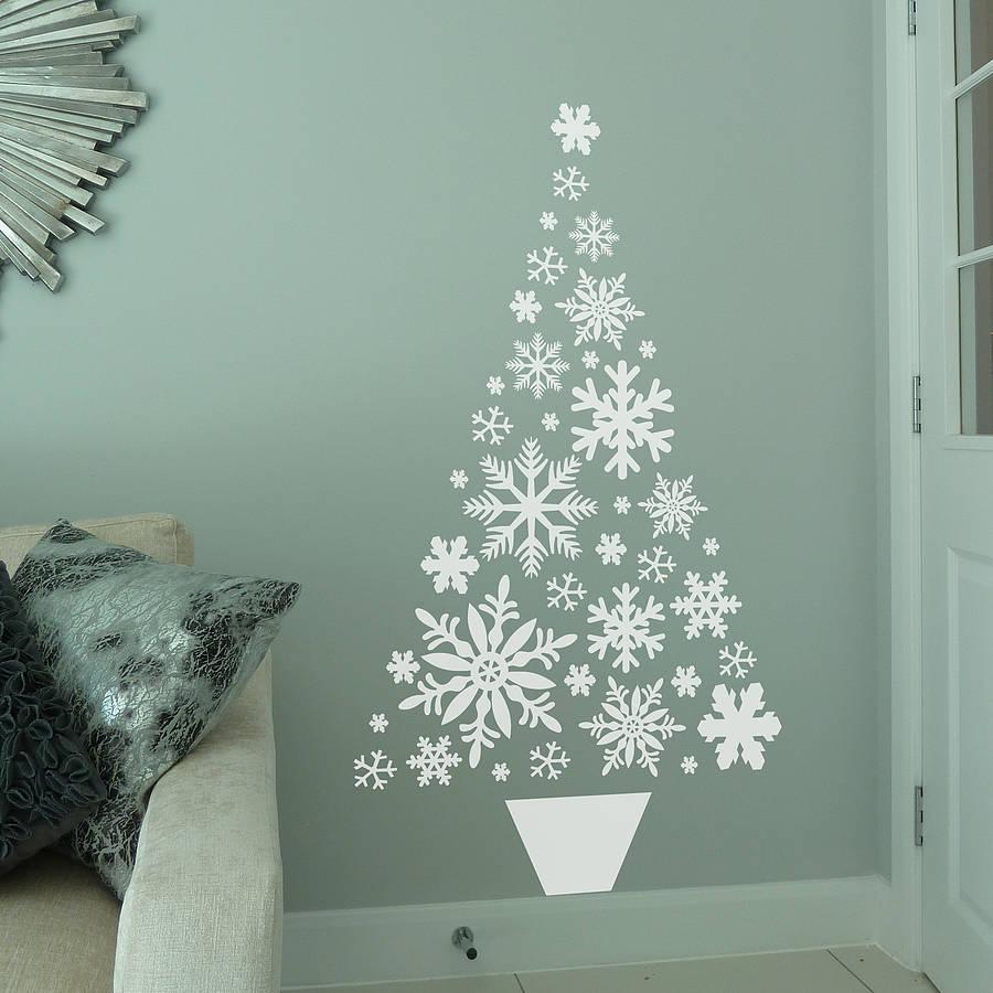 original_snowflake-christmas-tree-wall-sticker