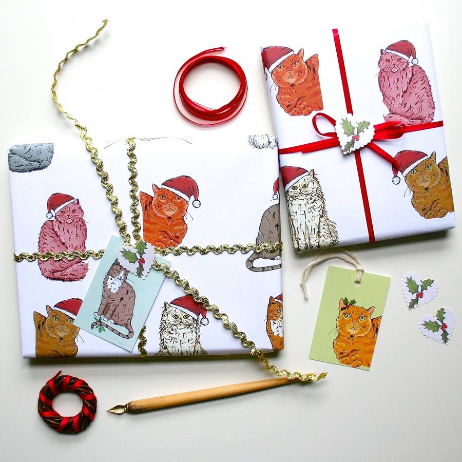 original_cat-christmas-wrapping-paper-gift-set