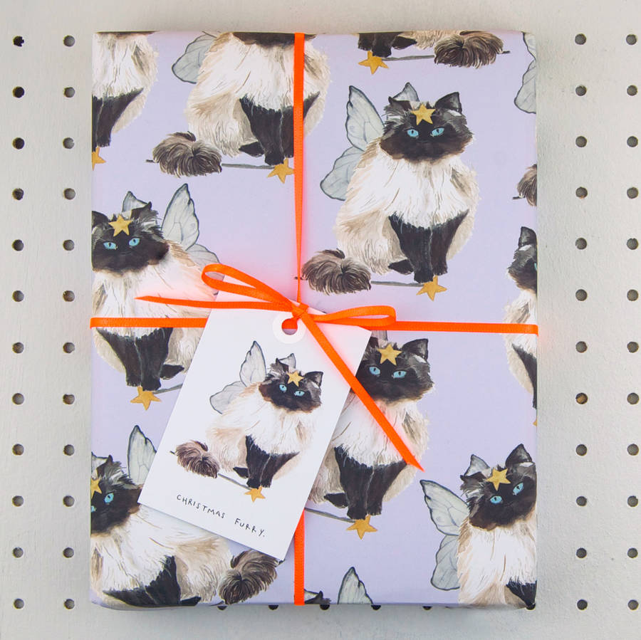 original_christmas-furry-cat-wrapping-paper