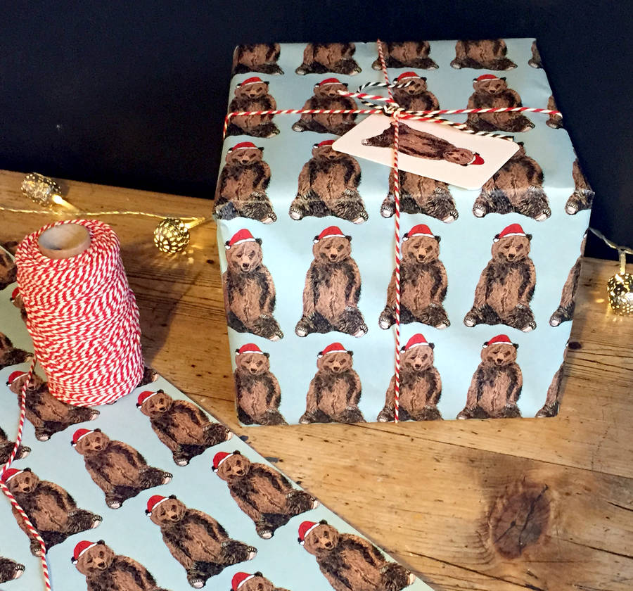 original_festive-bear-christmas-wrapping-paper